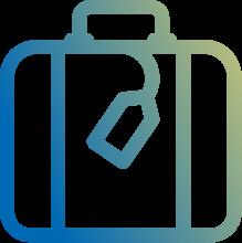 Abwechslungsreiche Geschäftsreisen - Koffer Icon